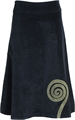 Cord Spiral Skirt-womens clothing-Mariposa Clothing