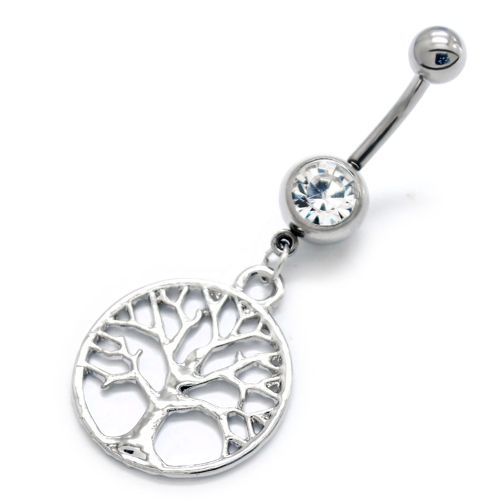 bd16262abb7 Surgical Steel Tree of Life Belly Banana - Jewellery-Body Jewellery ...