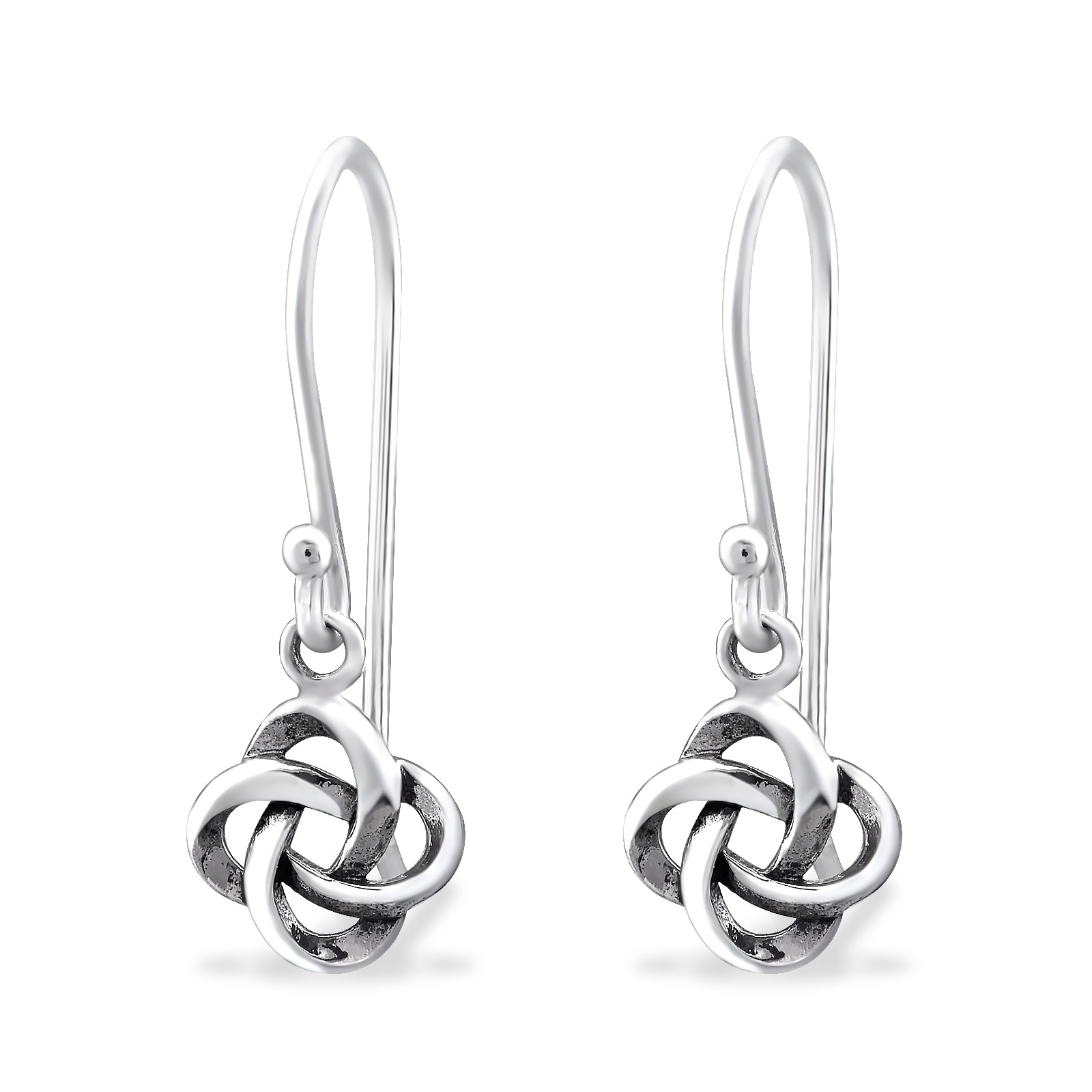 earrings knot diamond celtic silver sterling for gifts wg with white round her fascinating in stud earring nl jewelry cut