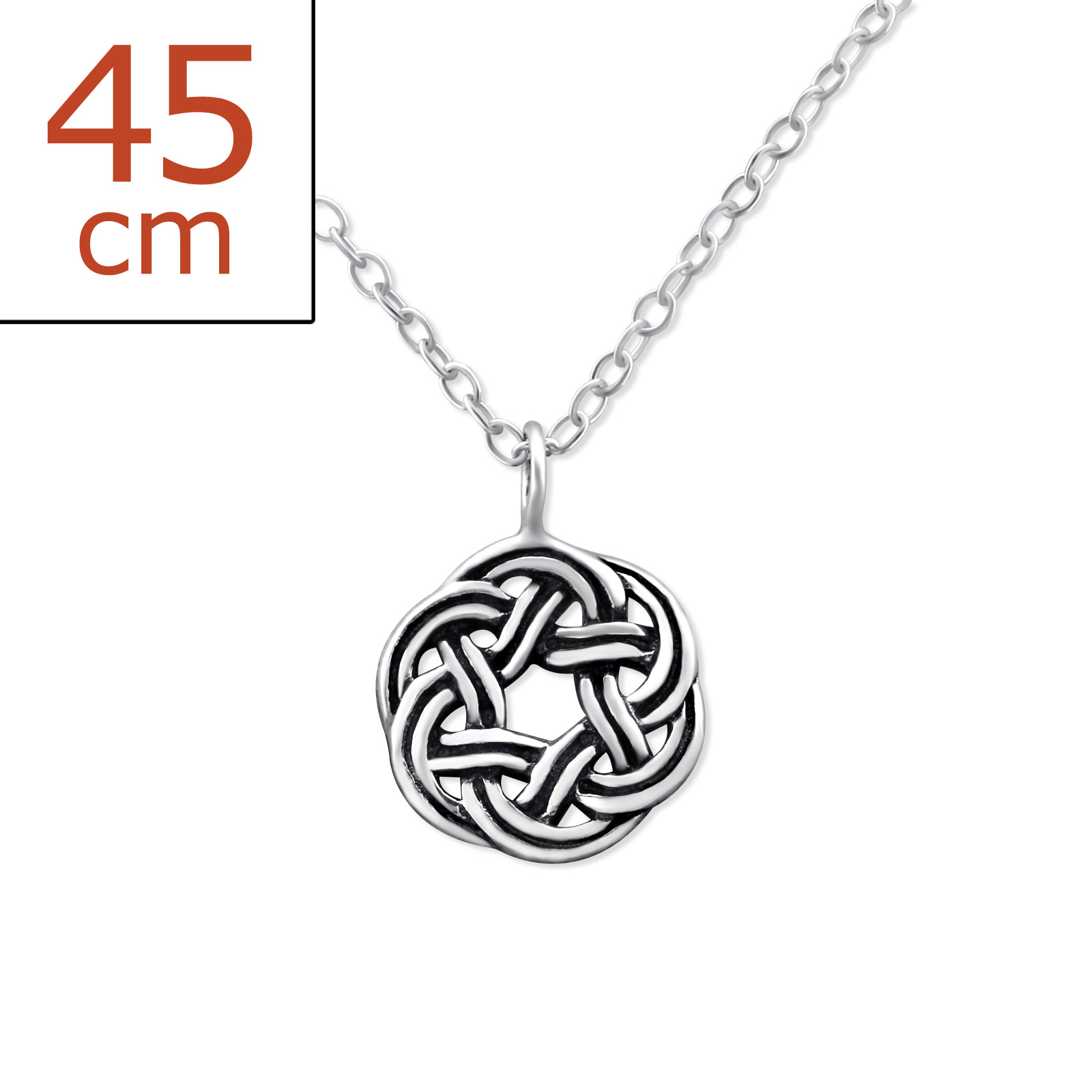 pendant triangle itm irish sterling celtic necklace love silver ebay knot vintage heart